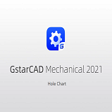 Hole Chart in GstarCAD Mechanical 2021